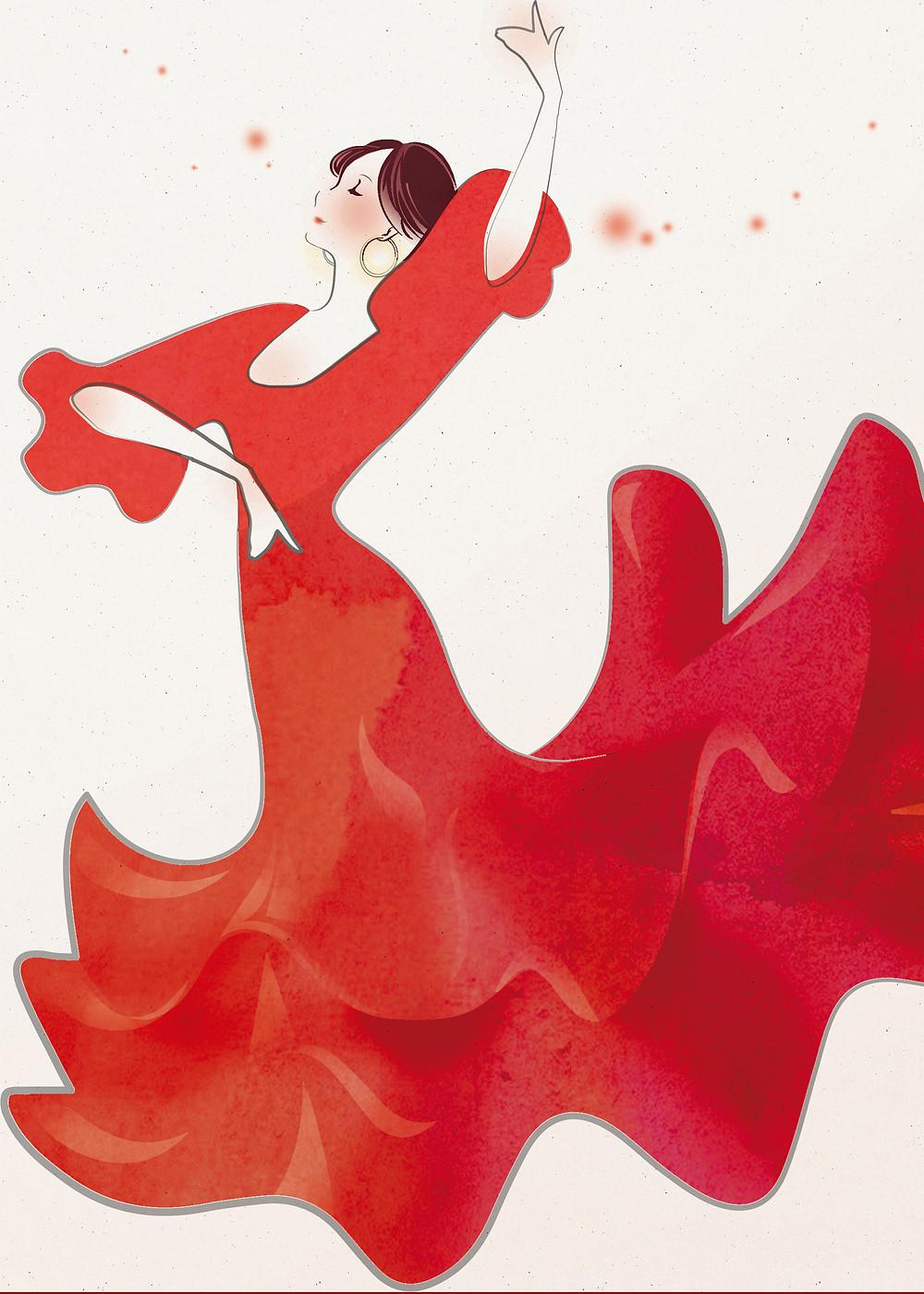 デザイナーに、アリアーテで踊るバイラオーラのをデザインしてもらいました。