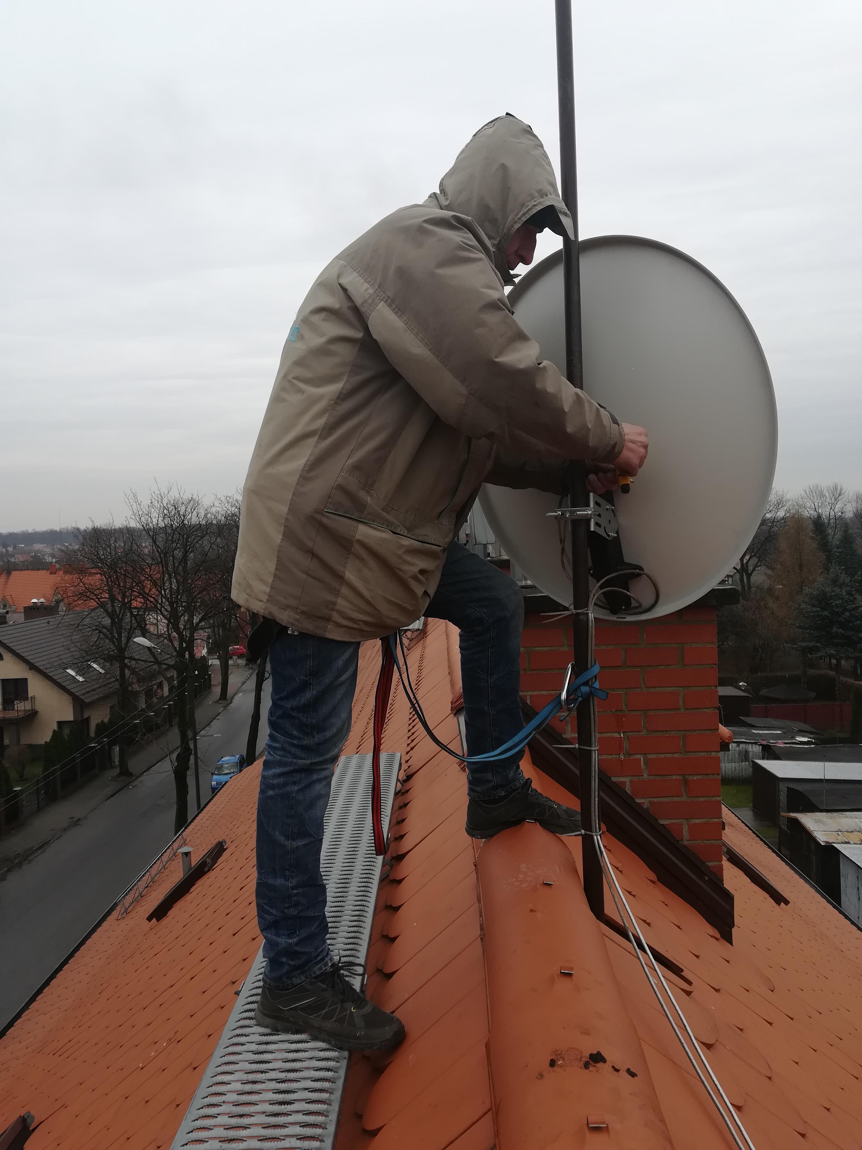 Montaż anteny w Zabrzu