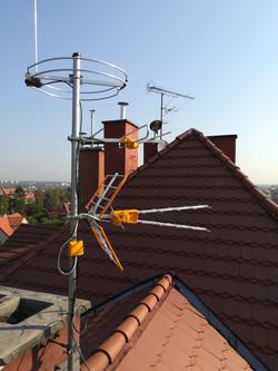 Maszt z antenami w Gliwicach