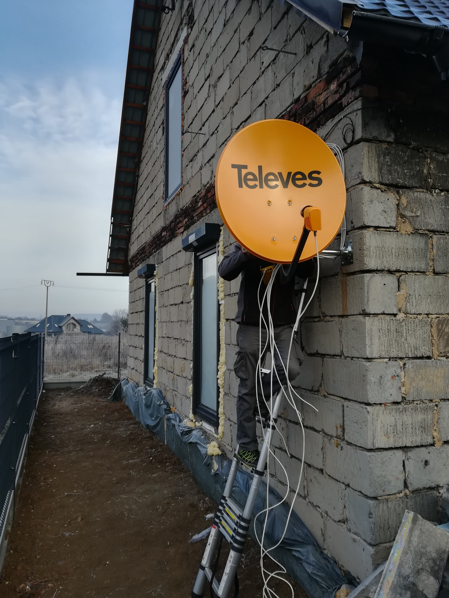 Antena satelitarna Czeladź