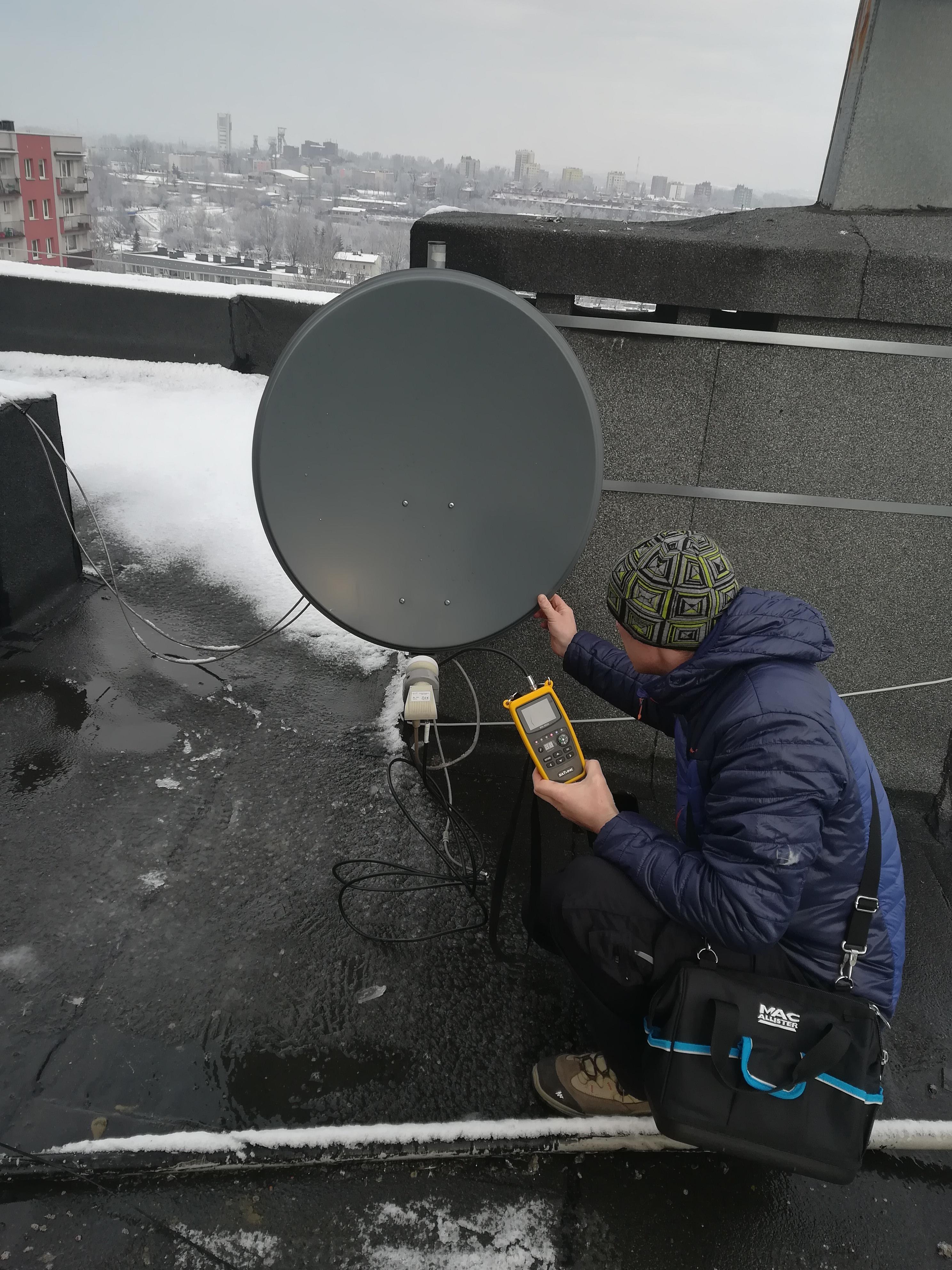 ustawianie anteny miernikiem