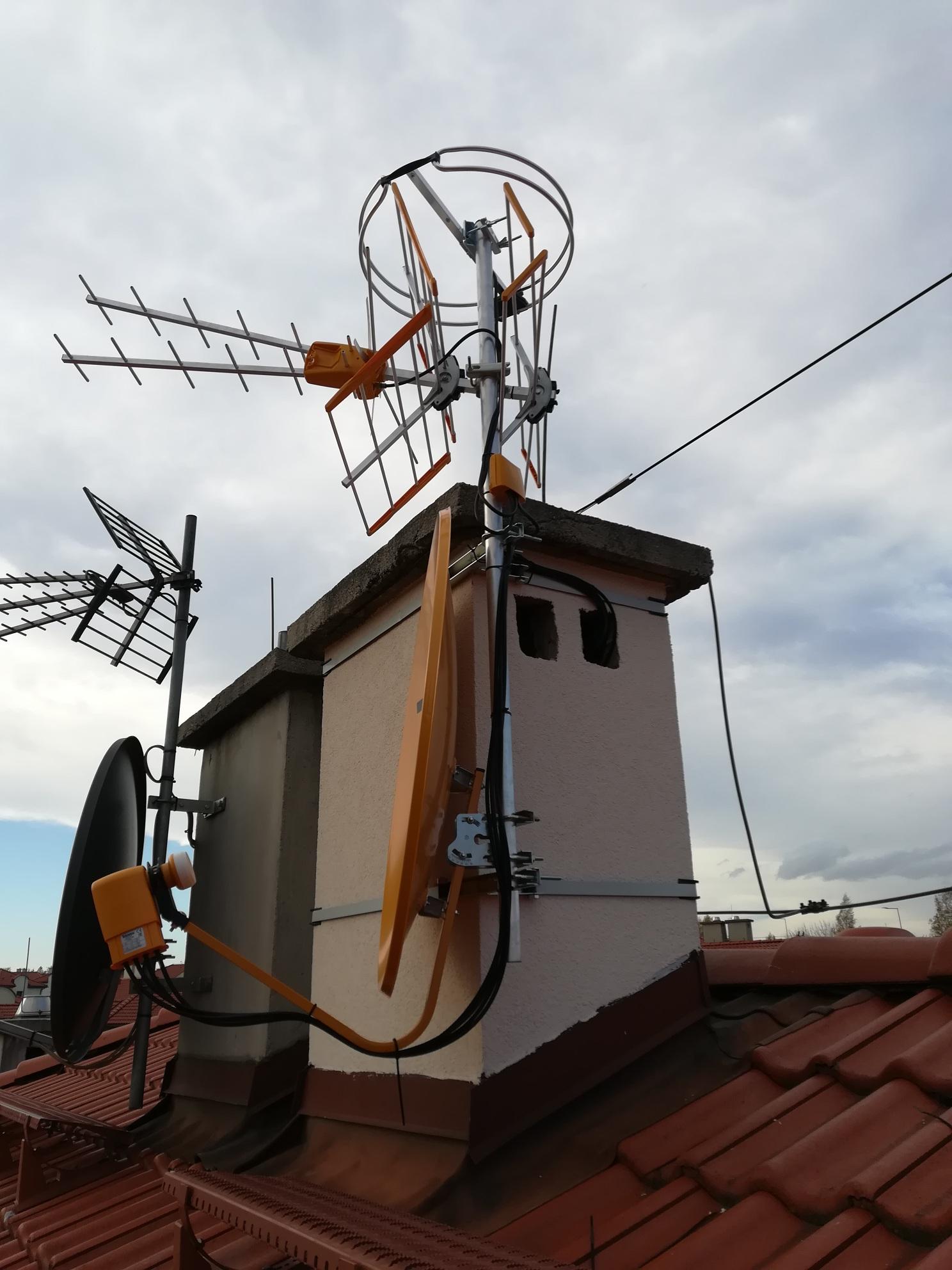 3 anteny televes w Sosnowcu