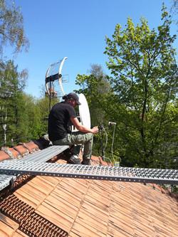 Montaż anteny w Rudzie Sląskiej