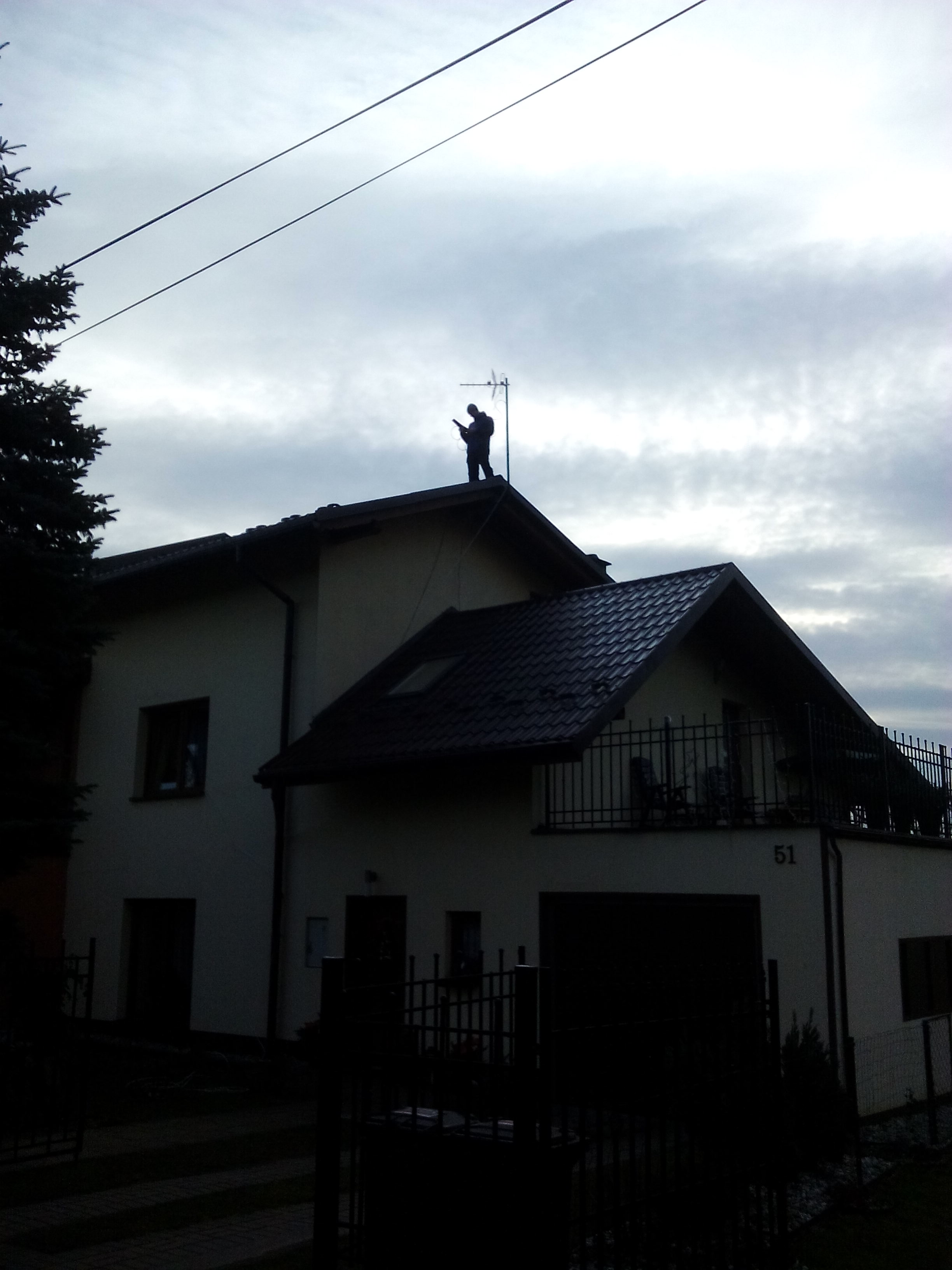ustawianie anteny naziemnej