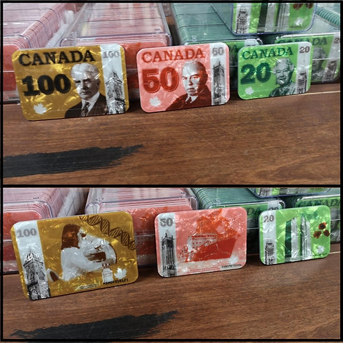 Canadian Currency plaques
