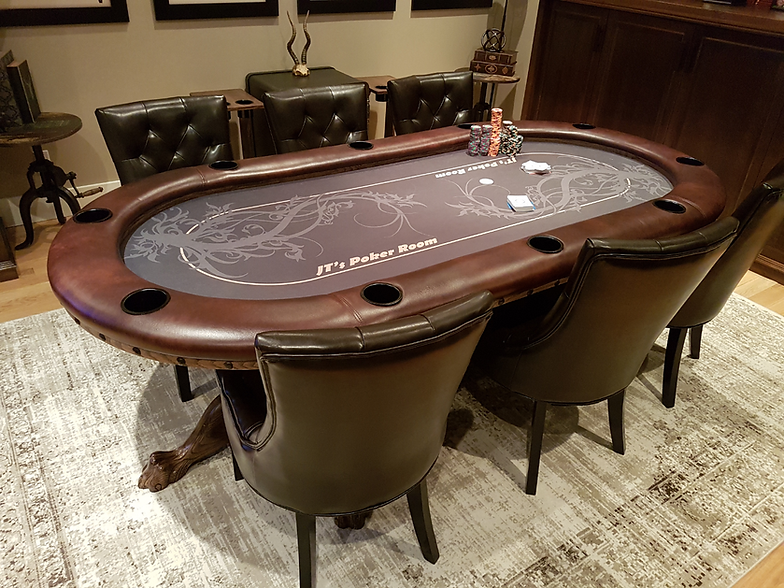 Custom Poker Table And Chips