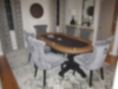54 inch round walnut poker table