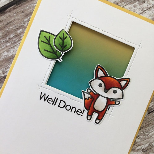 Foxy Handmade Congratulations Card
