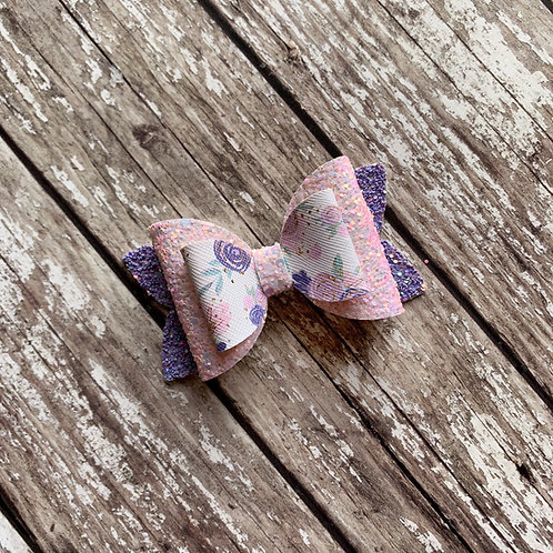 Floral Double Loop Charmed Bow