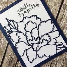 Handmade Peony Sympathy Card by Charmed
