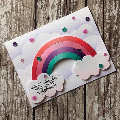 Over the Rainbow Handmade Card