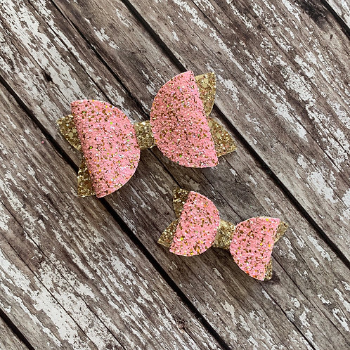 Pink & Gold Charmed Bow