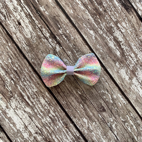 Pastel Rainbow Pinch Bow