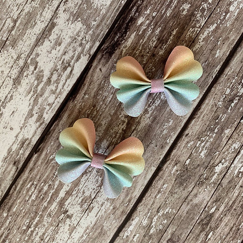 Rainbow Rachael Pinch Hair Bow