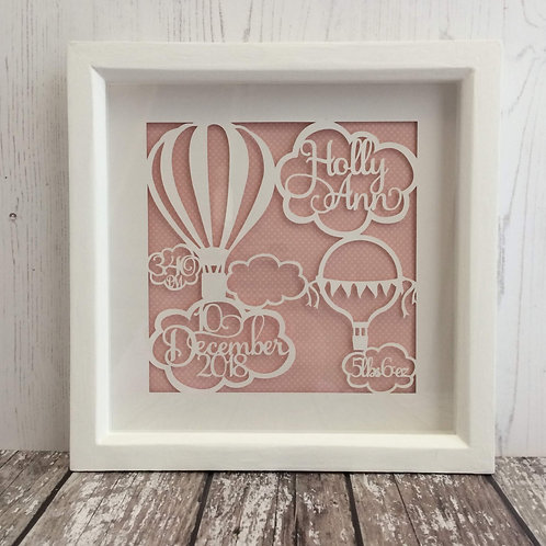 Papercut Baby Birth Stats Box Frame