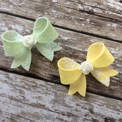 Pastel Lace Diana Bow