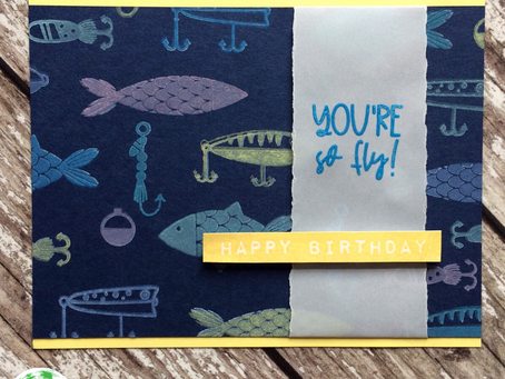 Electric Fish Birthday Card Tutorial