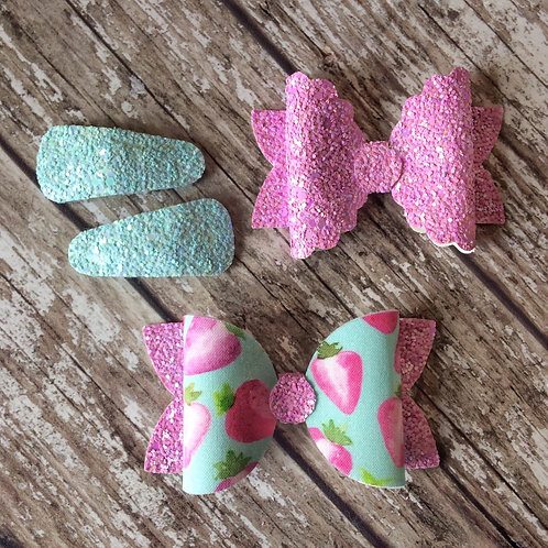 Summer Strawberry Bow Collection