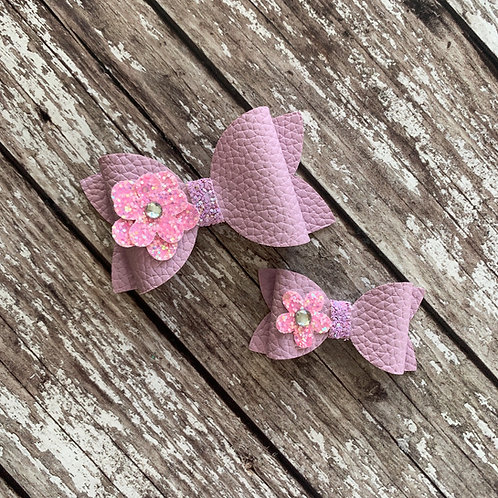 Pastel Flower Charmed Bow