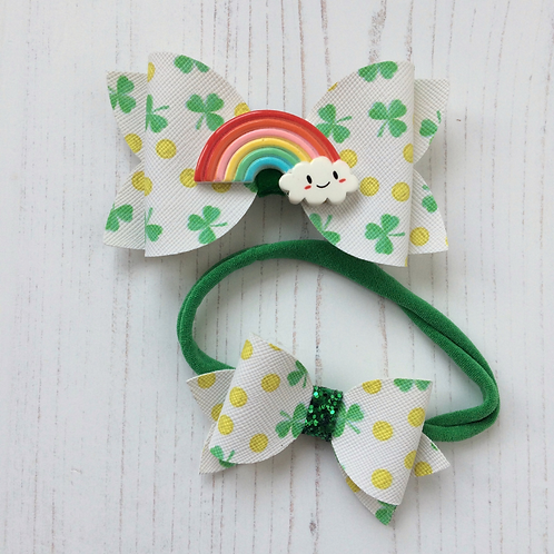 Treasured Shamrocks Hair Bow
