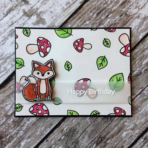 Foxy Handmade Birthday Card