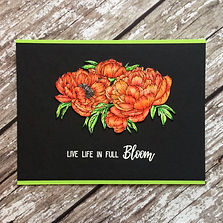 Live Life in Full Bloom Card by Charmed