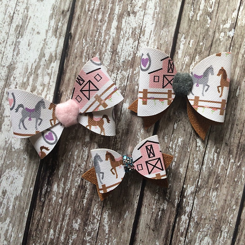 Pink Horse Bow Collection