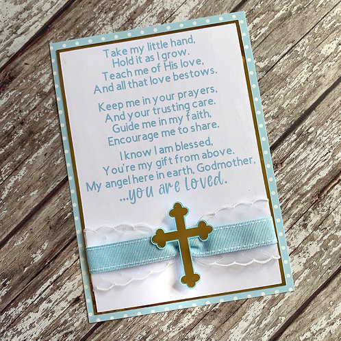 Handmade Godmother Card