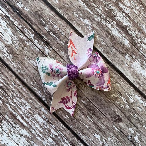 Sparkle Floral Aoife Bow
