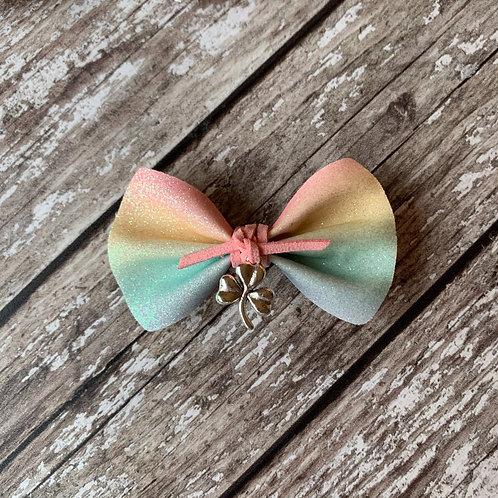 Shamrock Rainbow Pinch Bow
