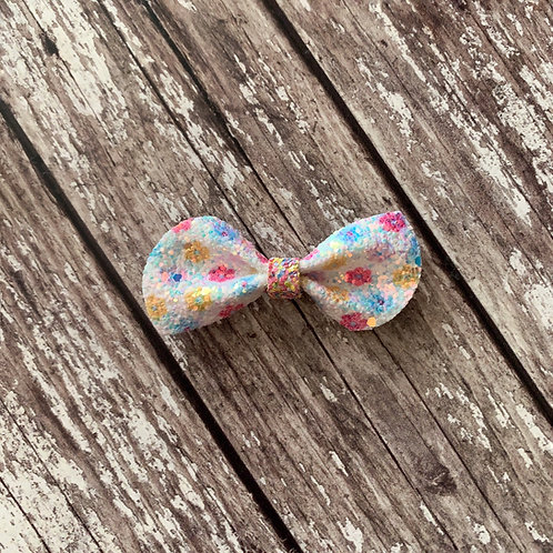 Floral Pinch Bow