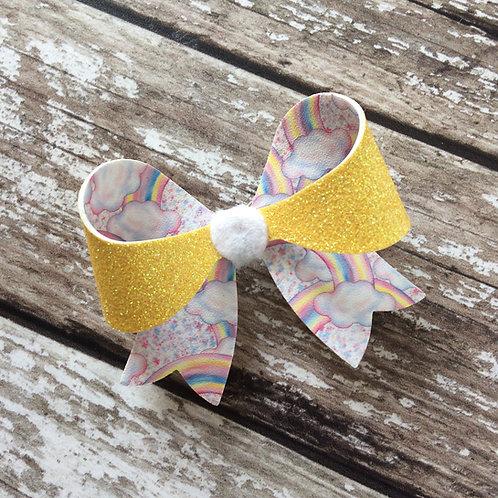 Rainbow Glitter Diana Bow