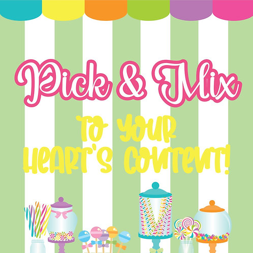 Pick & Mix Sweets Sign