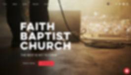 Screenshot of Faith Baptist Church Website