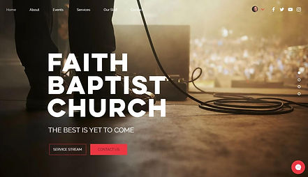 Screenshot of Faith Baptist Church Website