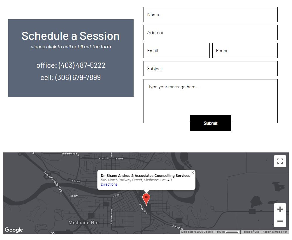 dr shane andrus schedule and location.JP