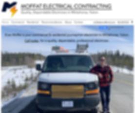 Screenshot of Moffat Electrical Contracting mecyukon.com Website