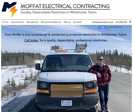 Screenshot of Moffat Electrical Contracting mecyukon.com Website