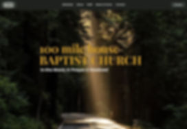 Screenshot of 100 Mile House Baptist Church Website
