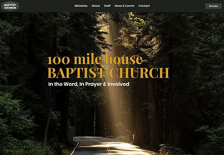 Screenshot of 100 Mile House Baptist Church Website