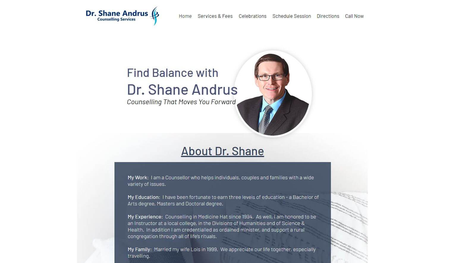 dr shane andrus home wider screenshot CO