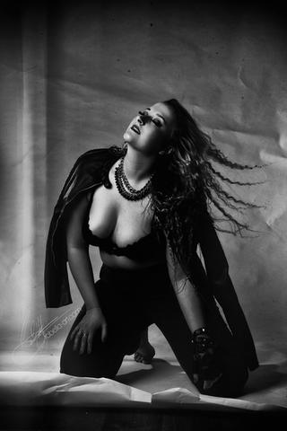 Black & White Rockstar Girl