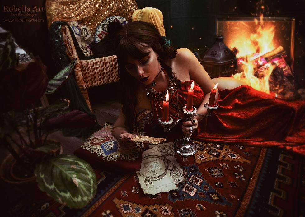 Mystisches Hexenset im Atelier