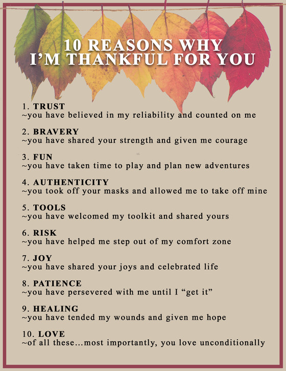 HAPPY THANKSGIVING family, friends, clients & colleagues