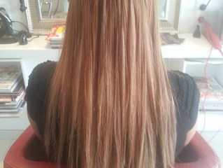 """I-tip extensions """"de gezonde manier"""" om uw natuurlijke haren te verlengen"""
