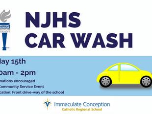 NJHS Car wash Sat. May 15th, 10-2pm