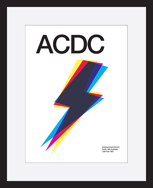 ACDC framed print