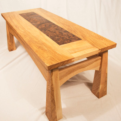 Olive Ash and Burr Walnut Coffee Table