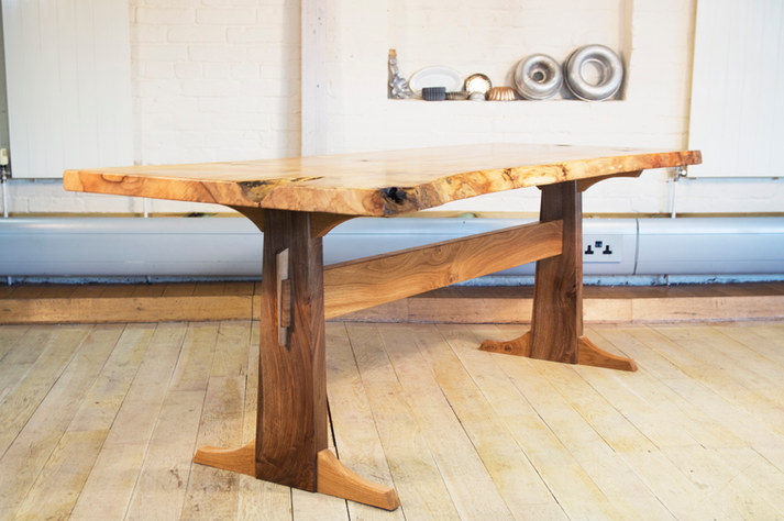 Sycamore and Walnut Table