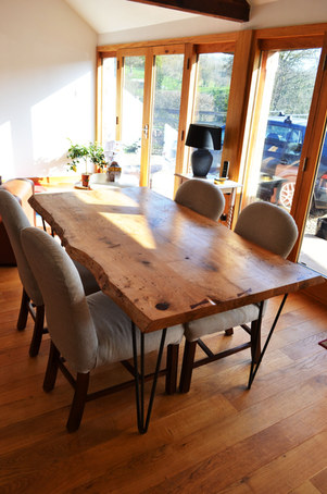 waney edge oak table
